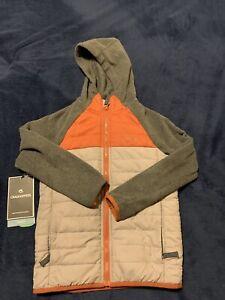 Craghoppers Kids Avery Hybrid Jacket Fleece Boys Size  7 Burnt Orange And Grey