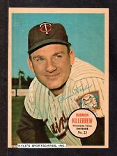 1967 TOPPS PIN-UP POSTERS #23  Harmon Killebrew  MINNESOTA TWINS HOF  EX-MINT  A