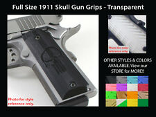 1911 Grips Full Size Ambi Safety Punisher Skull Transparent Colt Kimber Springfi