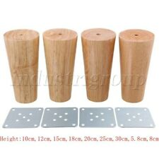 Wooden Furniture Leg Round Cone Shaped for Sofa Tea Table Set of 4