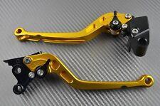 Paire levier leviers frein avant & arrière long CNC Or Honda Forza 125 2011-2015