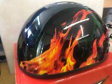 FULMER AF-90 HALF HELMET RED FLAME GEAR HEAD SIZE LARGE