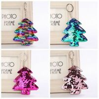 Car Sequins Keychain Christmas Tree Keyring Bag Accessories Handbag Pendant