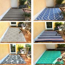 Outdoor Teppich für Balkon Terrasse Garten Camping Läufer wetterfest 120x180cm