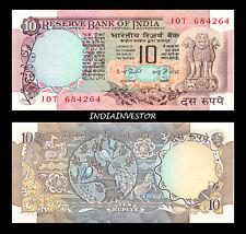 REPUBLIC INDIA 10 RUPEE 2 PEACOCK I G PATEL  SIGNATURE NOTE UNC