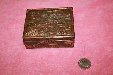 Vintage Detailed Made in Japan Copper Alloy Looking Metal Box