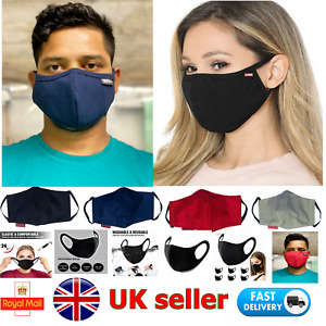 TRIPLE LAYERED COTTON FACE MASK - WASHABLE, REUSABLE & BREATHABLE