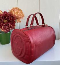 100% Authentic Gucci Soho Boston Bag Leather Handbag Tassel