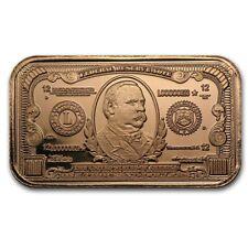Grover Cleveland copper bullion bars, 1 AVDP oz .999 pure copper, 1 tube of 20