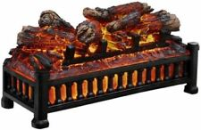 Electric Fireplace Crackling Log Glowing Heater 20 in Insert Kit Pleasant Hearth