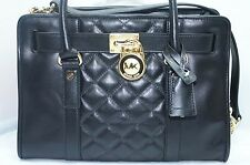 New Michael Kors Hamilton Satchel Bag Handbag Black Tote