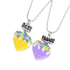 BFF Best Friends Forever Charm Love Chain Pendant Necklace Various 2pc / 3pc