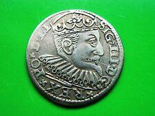 POLEN 3 Groschen 1598 GE Riga Sigismund III (1587-1632)