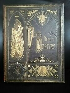 1ST-FULL LEATHER-GILT TOOLED-FOXES BOOK OF MARTYRS