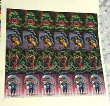 "vintage 1992 ""MARVEL MASTERPIECES"" UNCUT SHEET TRADING CARDS comics SPIDER-MAN"