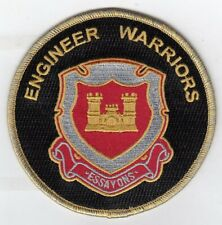 """Engineer Warriors """" Essayons"""" 4"""" embroidered round patch"""