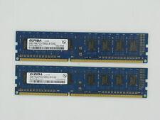 Lot 2 x 2 Go Elpida EBJ20UF8BCF0-DJ-F 1333 MHz PC3-10600U Mémoire DDR3