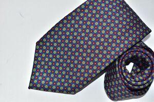 Men's Battistoni Blue 100% Silk  Neck Tie made in Italy