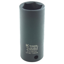 "24mm 1/2"" Drive Deep Impact Socket 6 Point"