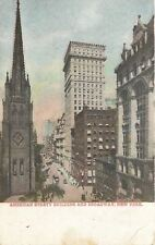 New York Ny~American Surety Building, Church and Broadway~1908 Postcard