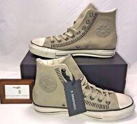 Converse X Mens Size 8 John Varvatos Ct Hi Drill Grey Stitched Sneakers $200