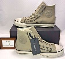 $200 CONVERSE X MENS SIZE 8 JOHN VARVATOS CT HI DRILL GREY STITCHED SNEAKERS