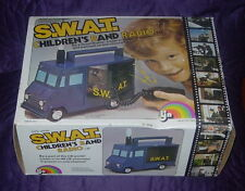 LJN  SWAT  S.W.A.T.  CHILDREN'S BAND RADIO  W/ BOX  1975  TV SHOW   TESTED
