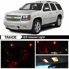 14x Red Interior LED Light Package Kit for 2007-2014 Chevy Chevrolet Tahoe