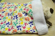 New listing Snuggle Sack Burrow Blanket Boston Terriers Poodles Dogs Flannel Sherpa 28x20