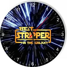 Best Stripper in the Star Galaxy Space Kitchen Living room Wall Clock