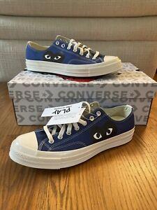 Converse x Comme Des Garcons Chuck 70 Low Sneakers -Blue Quartz(171848C) Size 12