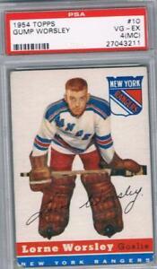 1954-55 Topps #10 Gump Worsley PSA 4 MC NY Rangers