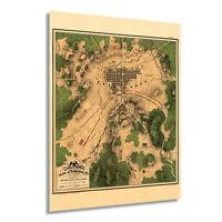 HISTORIX Vintage 1863 Map of The Battle of Gettysburg Pennsylvania