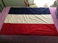 "Vintage Nautical Maritime Red White & Blue Stripe Flag 49"" x 38"""