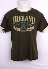 Ireland Celtic Nation Mens Ringer T Shirt - Brown - XL - Irish