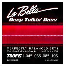La Bella 760FS Deep Talkin' Bass Flat Wound Standard Scale Bass Strings (45-105)