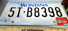 Montana Metal License Plate, 2001 tags, cool hologram, big sky country, 5TB8398