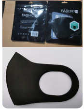 Solid Black Reusable Washable Cloth Face Masks w/ Ear Loops IN STOCK SHIPPING