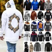 Men's Winter Pullover Hoodie Warm Hooded Sweatshirt Coat Jacket Outwear Sweater