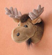 "11"" Moose Head Plush Stuffed Animal Toy"