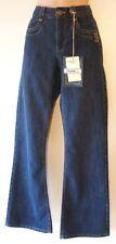Womens Bootcut Jeans Size 8 - 10 leg 30L New Ladies Blue Denim Diamante Stud dt