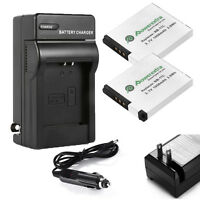 2X NB-11L NB11LH Battery + Charger for Canon PowerShot ELPH 110 HS A2300 A2500