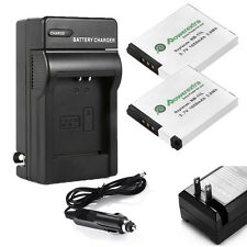 2x NB-11L NB11L Battery + Charger for Canon Powershot A2300 A2400 IS Camera USA