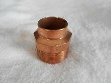 """1 Pc. Copper 1"""" x 1 1/4"""" Reducing Male Adapter 1"""" Solder x 1 1/4"""" Male Thrd- NEW"""