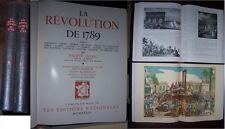 C1 REVOLUTION Sagnac LA REVOLUTION  DE 1789 Complet en 2 Volumes RELIE ILLUSTRE