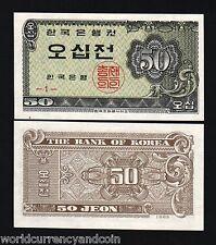 KOREA SOUTH 50 JEON P29 1962 CUTE LITTLE UNC KOREAN CURRENCY MONEY BILL BANKNOTE