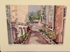 """Charleston Courtyard"" Charleston water color print Marilyn Morris Birthday gift"