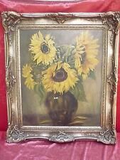 schönes, altes Gemälde__Sonnenblumen__signiert_!