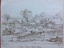 E. MUSEO HUGONIS HOWARD ARMIG Grimaldi G. Francesco acquaforte XVIII paesaggio