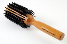 NEW SALON PRO HAIR STYLING ROUND BRUSH WOOD HANDLE HAIRDRESSING MADE IN TURKEY